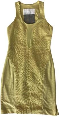 Yigal Azrouel Yellow Cotton Dress for Women