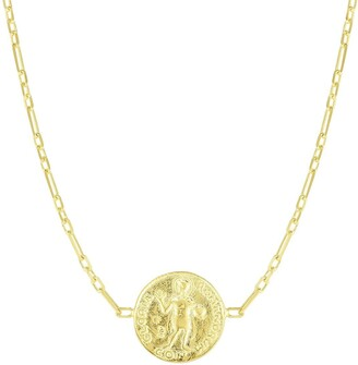 Sphera Milano 14K Yellow Gold Plated Sterling Silver Coin Pendant Necklace