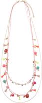 Accessorize Pom Pom Layered Rope Necklace