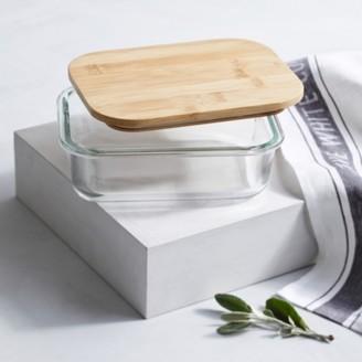 The White Company Glass Medium Storage Box, Clear, One Size