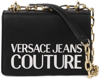 Versace Shoulder Bag In Eco-leather With Logo