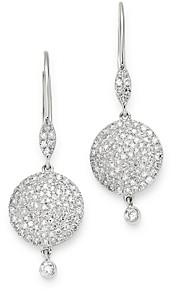 Meira T 14K White Gold Diamond Disc Drop Earrings