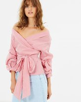 Living Doll Candy Stripe Wrap Top