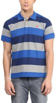 American Crew Men's Premium Pique Stripes Polo T-Shirt- L (AC258-L)