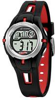 Calypso Children's Digital Watch with LCD Dial Digital Display and Black Plastic Strap K5506/1
