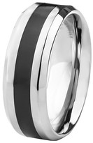 Ring Black West Coast Jewelry Men's Titanium Resin Inlay Ring - Black (8mm)
