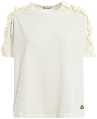 Moncler Ruffled Sleeve T-Shirt