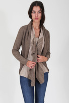 Goddis Galit Belted Drape Cardigan In Blondewood