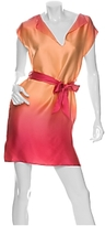 Belted Ombre Silk Dress