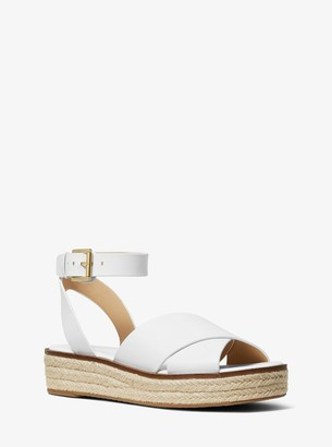 MICHAEL Michael Kors Abbott Leather Espadrille Sandal