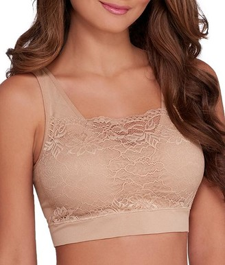 Ahh By Rhonda Shear Seamless Lace Bralette