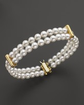 Bloomingdale's Cultured Freshwater Pearl Double Row Bracelet in 14K Yellow Gold, 5.5mm