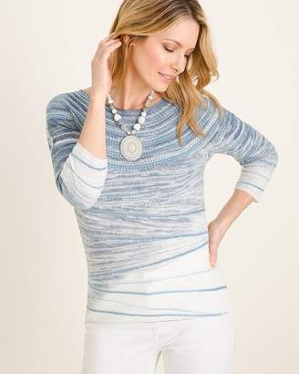Chico's Chicos Textured Bateau-Neck Sweater
