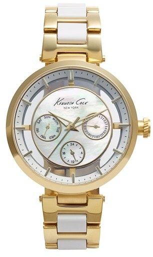 Kenneth Cole New York Multifunction Transparent Dial Bracelet Watch, 38mm