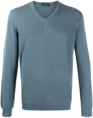 Zanone V-neck cotton jumper
