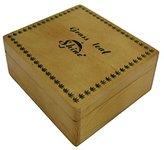 Shine Grass Leaf Large Wooden Rolling Box Roll Box Smoking