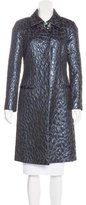 Blumarine Embellished Brocade Coat
