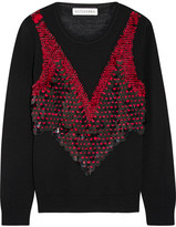 Altuzarra Powell Embellished Merino Wool Sweater - Black