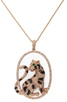 Effy Jewelry Signature Rose Gold Diamond & Emerald Pendant, 1.75 TCW