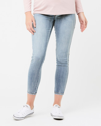Ripe Maternity Women's Blue Skinny - Isla Ankle Grazer Jeggings - Size One Size, XS at The Iconic
