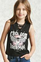 Forever 21 FOREVER 21+ Girls Graphic Muscle Tee (Kids)