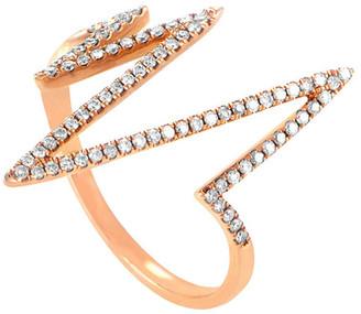Diamond Select Cuts 18K Rose Gold 0.27 Ct. Tw. Diamond Ring