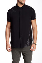 Drifter Willhelm Mixed Media Short Sleeve Silk Shirt