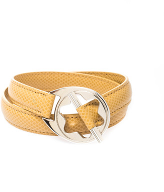 Montblanc Star Collection Hold Me Tight Beige Leather & Silver Wrap Around Toggle Bracelet