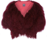 Anna Sui Shearling Gilet - Burgundy