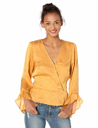 GUESS Women's Long Sleeve Haidee TIE Front TOP