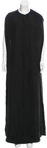 Valentino Silk Cape-Accented Dress