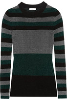 Sonia Rykiel Metallic Ribbed-knit Sweater - Green