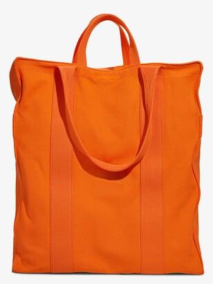 Heron Preston for Calvin Klein Orange Canvas Tote Bag