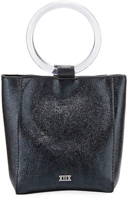 Collection XIIX Sparkle Metallic Leather Ring-Handle Bag