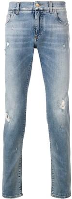 Dolce & Gabbana Straight-Leg Distressed Jeans
