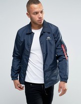 Alpha Industries Coach Jacket In Navy