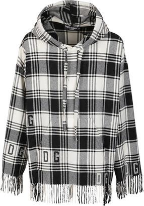 Dolce & Gabbana Black And White Wool Sweatshirt