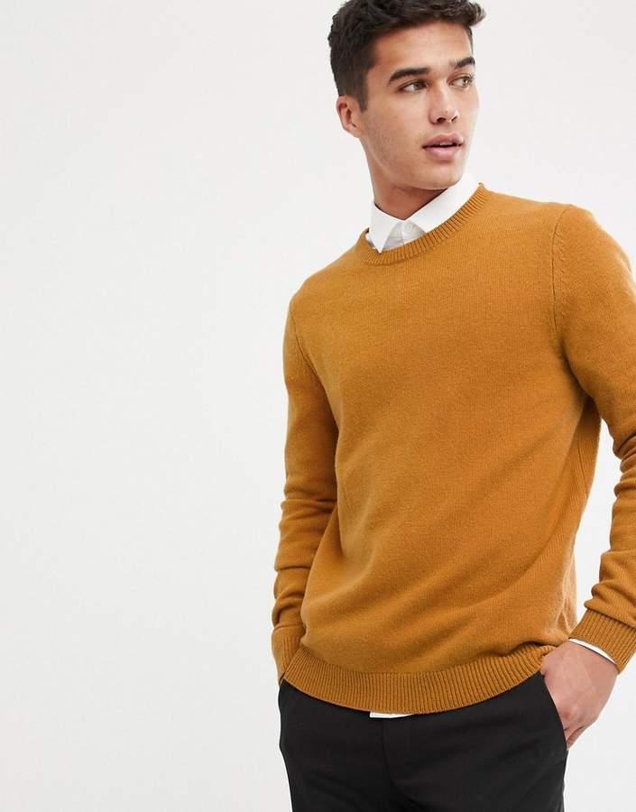 faac4bcff72 Design DESIGN lambswool sweater in mustard