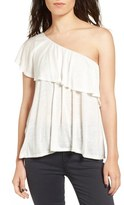 Ten Sixty Sherman One Shoulder Ruffle Top
