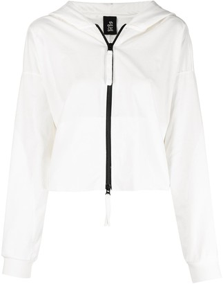 Thom Krom Raw-Edge Crop Hooded Jacket
