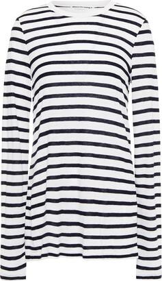 alexanderwang.t Striped Slub Jersey Top