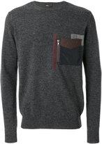 Kolor patch pocket jumper - men - Polyester/Wool - 3