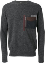 Kolor patch pocket jumper