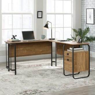 Loon Peakâ® Mcclanahan L-Shape Executive Desks with Hutch Loon PeakA