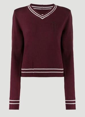 Maison Margiela Distressed V Neck Sweater