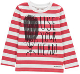 Burberry Use Your Head Striped T-Shirt