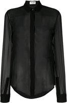Saint Laurent sheer long sleeve blouse