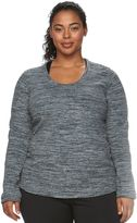 Tek Gear Plus Size Fleece Scoopneck Sweatshirt