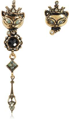 Alcozer & J King Cat Asymmetrical Earrings