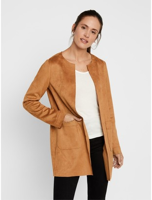 Vero Moda Long Collarless Jacket with Pockets
